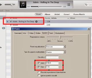 iTunes opzioni