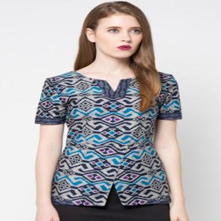 desain baju batik anak modern