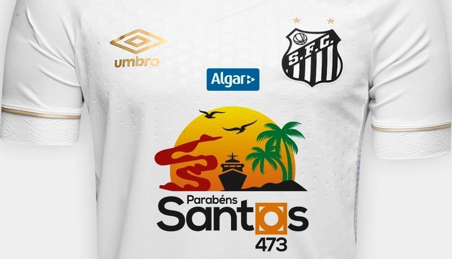 Santos faz homenagem para a cidade em sua camisa - Show de Camisas b7ce97df06609