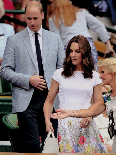Kate Middleton wearing new summer dress Preen Thornton Bregazzi, Kate Middleton carried Victoria Beckham Quincy bag. Catherine, Duchess of Cambridge