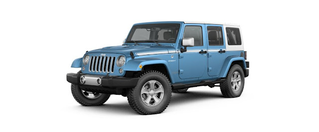 Blue Jeep Wrangler chief limited edition