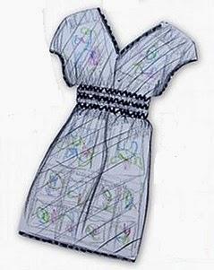 Vestido o túnica griega. No necesita patrón