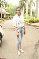 Rakul Preet Singh in Jeans and White Shirt At Jaya Janaki Nayaka le Logo Launch ~  Exclusive 077.JPG