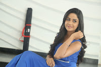 Divya Nandini stunning Beauty in blue Dress at Trendz Exhibition Launch ~  Celebrities Galleries 018.JPG