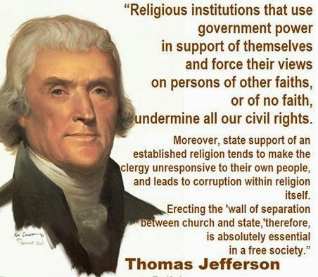 """a history of separation of church and state in america The phrase """"separation of church and state"""" appears in  the catholic church as you seem to know about history  church/state separation and distaste for ."""