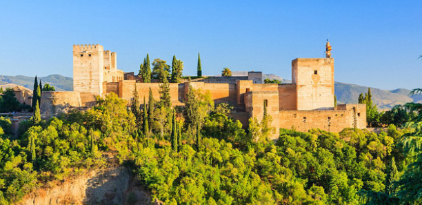 The Castle of Alhambra, Granada, Spain