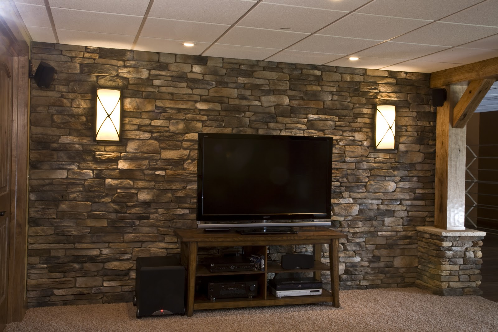 Accent Stone Wall The Rolling Stone Do You Have The Decorating Itch