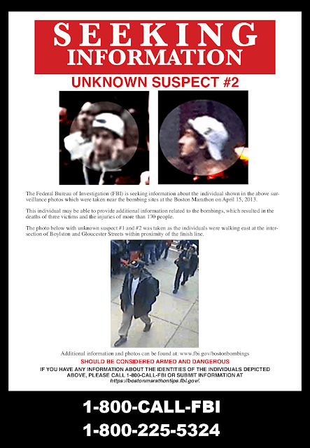 FBI Seeking information poster of suspect # 2