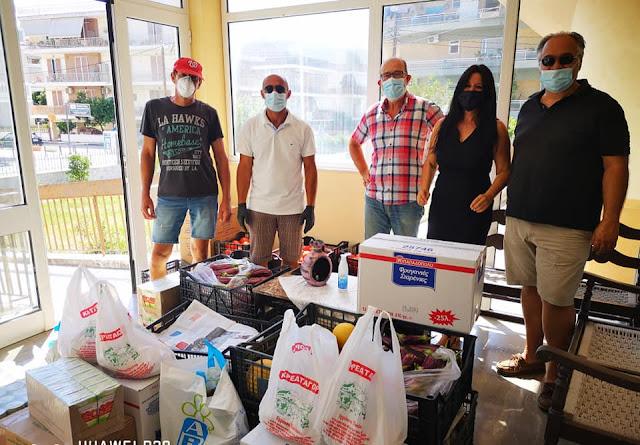 Δωρεά τροφίμων από την Ένωση Κρητών Αργολίδας στο Γηροκομείο Ναυπλίου