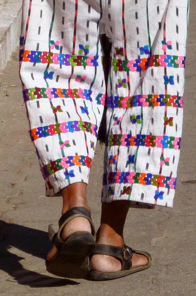 Man from Atitlan in Guatemala wearing traditional pants