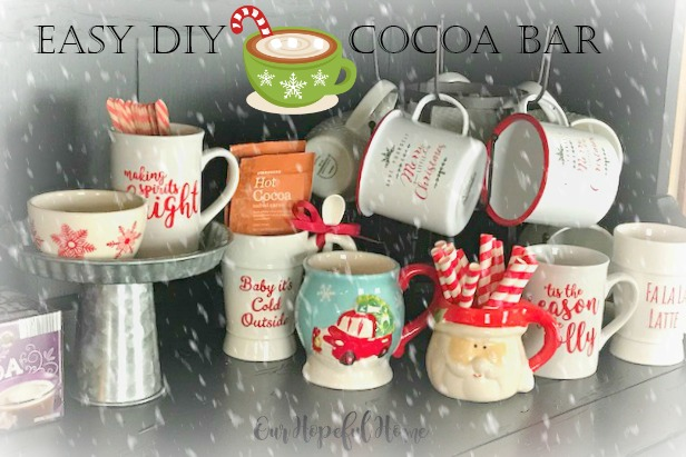 cocoa mugs striped straws wooden spoons powdered cocoa mug rack