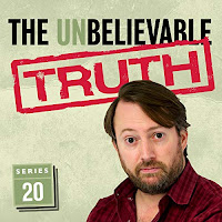The Unbelievable Truth audiobook cover featuring David Mitchell