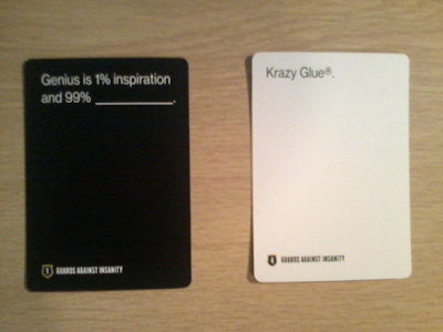 Guards Against Insanity - Genius Is 1% Inspiration And 99% Krazy Glue.