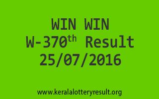 25-07-2016 SATURDAY WIN WIN W-370 KERALA LOTTERY RESULTS