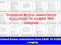 Download Berkas Administrasi Guru PAUD TK KOBER TPA Lengkap