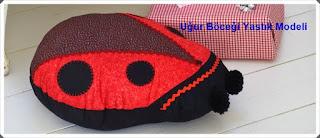 Kumaştan Uğur Böceği Yastık Yapımı, Resimli Açıklamalı