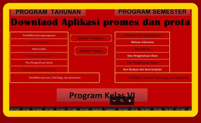 Aplikasi Pembuat Prota Promes Otomatis Terbaru
