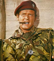 Roger Moore in army uniform in The Wild Geese