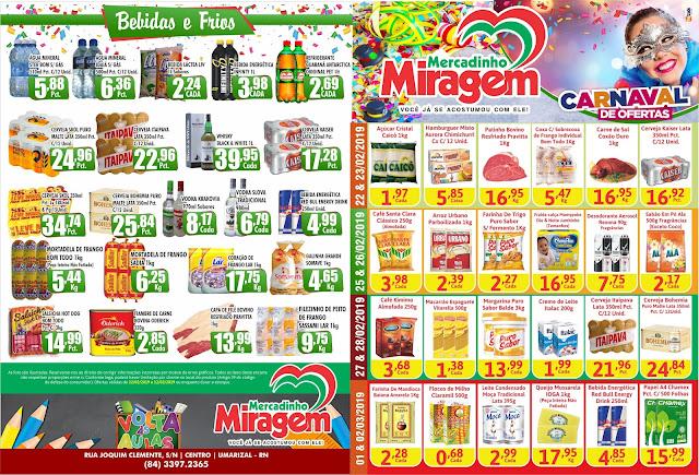 Carnaval de ofertas no Mercadinho Miragem