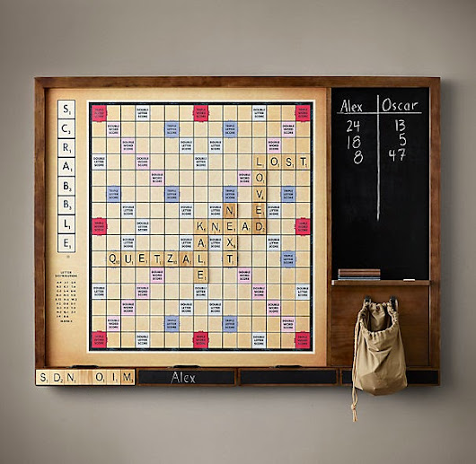 Friday Find - Wall Scrabble