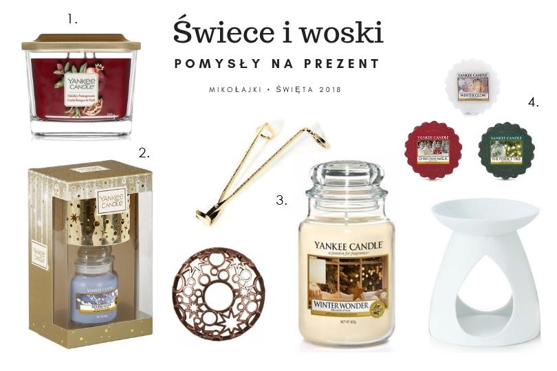 świece zapachowe i woski do kominka na prezent od mikołaja