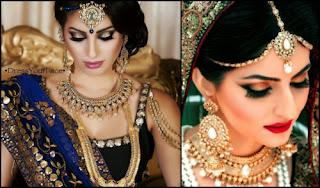 Makeup that goes with Lehenga Choli