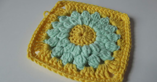 Tutorial: Granny Square con flor a ganchillo