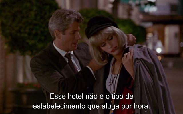 Edward decide levar Vivian para passar a noite com ele no hotel