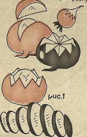 Прстые элементы украшения салата из редиса