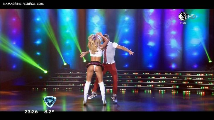 Argentina Celebrity Jesica Cirio schoolgirl outfit hot ass upskirt Damageinc Videos HD