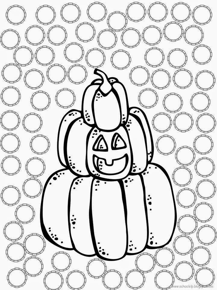School SLP: Open-Ended Dot Activity Sheets: Fall FREEBIE!