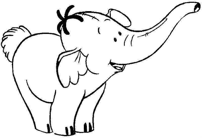 Kids Coloring Pages Cute Elephant Coloring Page