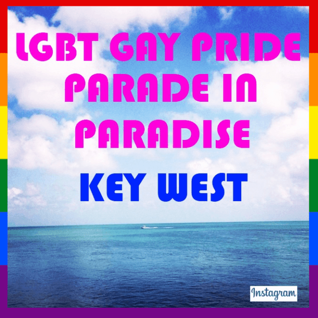 LGBT Gay Pride Parade in Paradise - Key West.