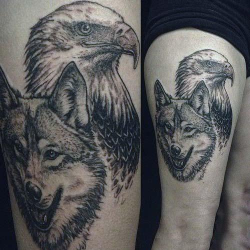 erkek üst bacak dövme modelleri man thigh tattoos 34