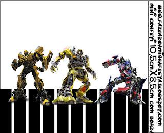 Etiquetas de Transformers para imprimir gratis.