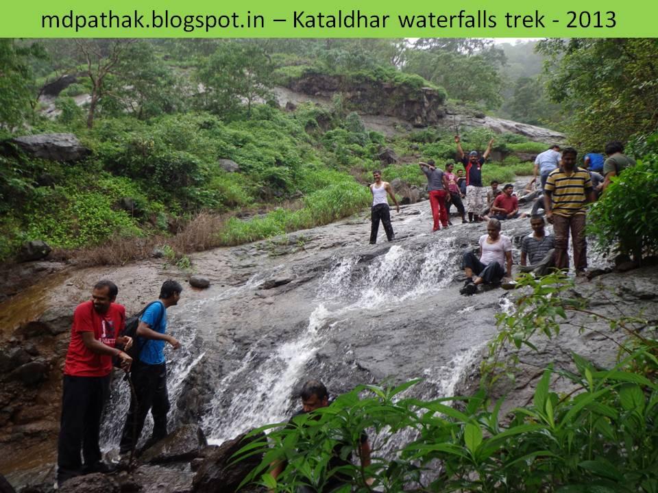 enjoying monsoon waterfalls on the way to Kataldhara waterfall