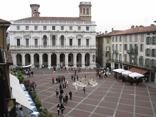 Piazza Vecchia, in Bergamo's Città Alta, has been described as the most beautiful square in Italy