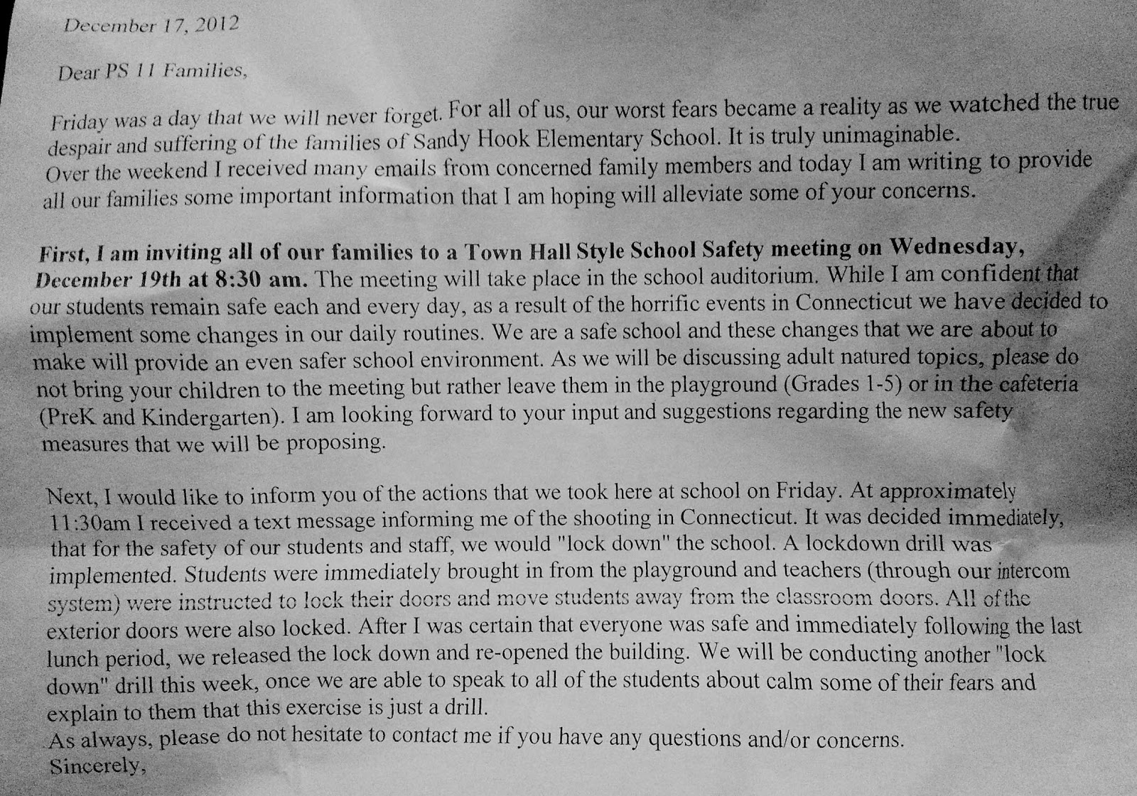 as i see it a farewell to arms 27704 21035 20102 27494 22120  letter from kimmie s school principal
