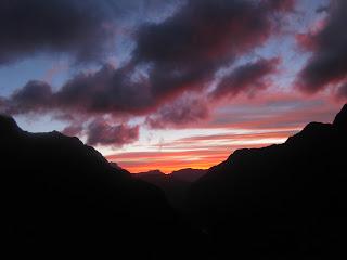 New Zealand sun rise