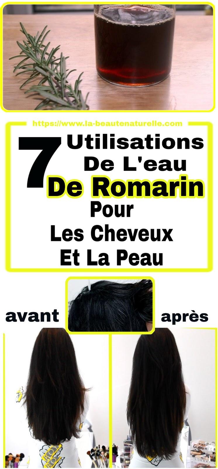 7 Utilisations De L'eau De Romarin Pour Les Cheveux Et La Peau
