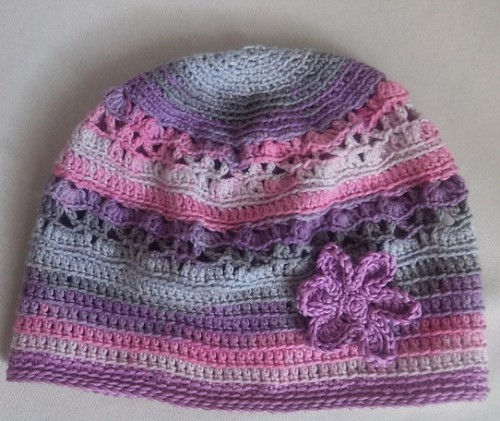 Lilac Spring Beanie - Free Pattern
