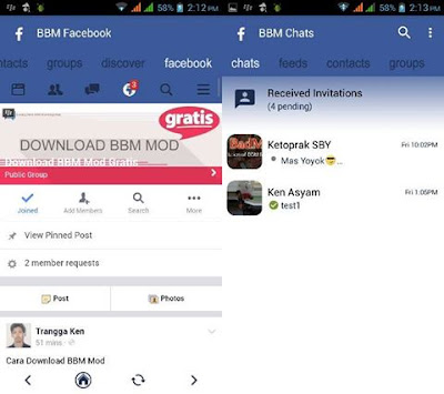 Download BBM Facebook v3.2.2.8 APK (BBM MOD FBUI New Style) Update Januari 2017