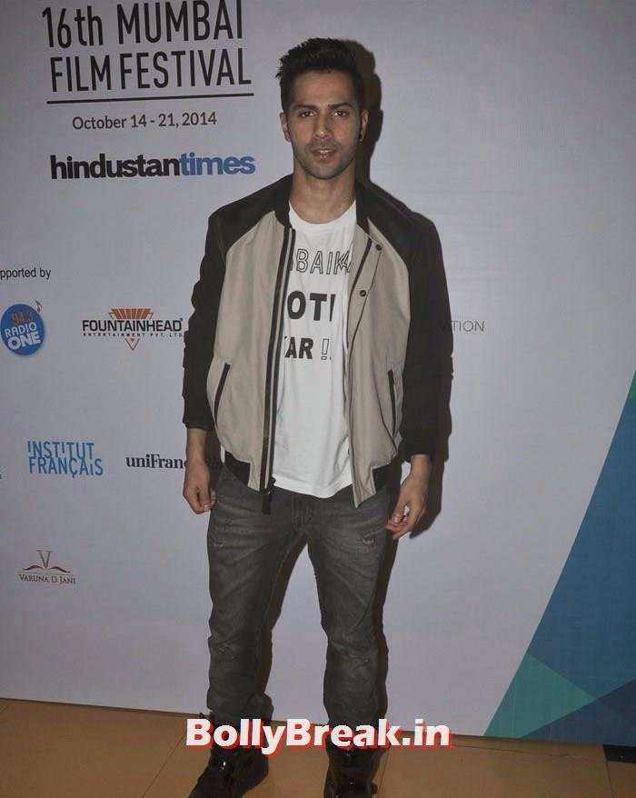 Varun Dhawan, Photos from Opening Ceremony of MAMI 2014