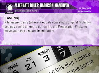 Dog Fight: Starship Edition Alternate Rules: Harrison Maneuver