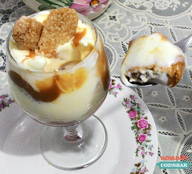 pavê de doce de leite e sorvete