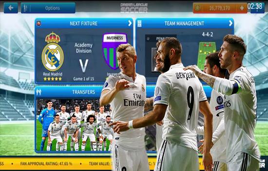 اضافة فريق ريال مدريد كاملا الى لعبة دريم ليغ سوكر