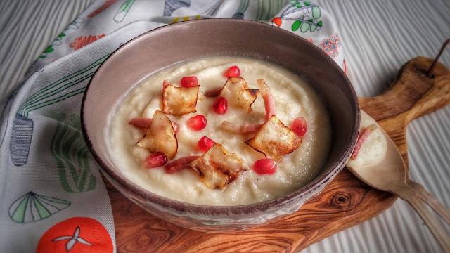 vellutata di sedano rapa con pancetta croccante