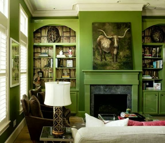 While It Is Now A Great Chocolate Brown Lacquered Color We Still Refer To As The Green Room Old Habits Hard I Guess