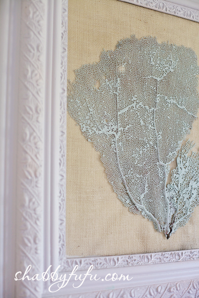 aqua seafan wall art
