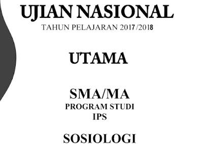 Soal dan Pembahasan UNBK Sosiologi 2018 No 1-5